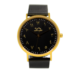 Black Stainless Steel  - Black - Gold - NORTH ACCENT Inc., Watch watches men women luxury arabic watch classic minimalist,