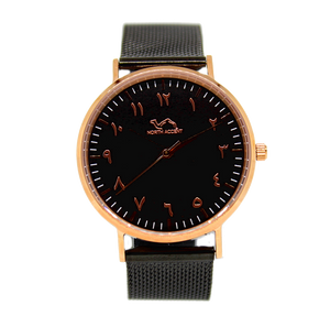 Black Stainless Steel - Rose Black - NORTH ACCENT Inc., Watch watches men women luxury arabic watch classic minimalist,