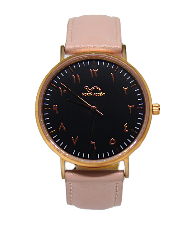 Coral - Rose Black - NORTH ACCENT Inc., Watch watches men women luxury arabic watch classic minimalist,