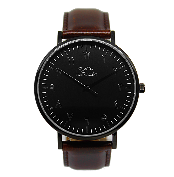 Espresso - Black - NORTH ACCENT Inc., Watch watches men women luxury arabic watch classic minimalist,
