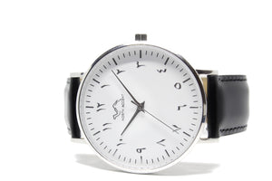 Black Leather - Silver - White - NORTH ACCENT Inc., Watch watches men women luxury arabic watch classic minimalist,