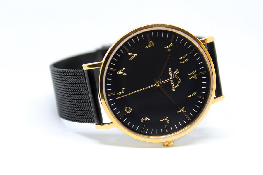 Black Stainless Steel - Gold - Black - NORTH ACCENT Inc., Watch watches men women luxury arabic watch classic minimalist,