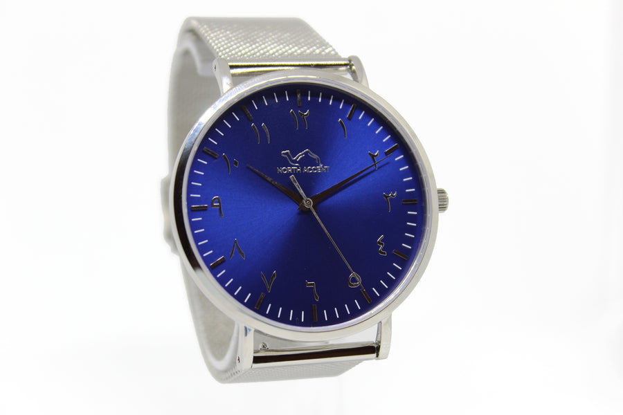 Deep Sea Limited Edition - Silver Stainless Steel - NORTH ACCENT Inc., Watch watches men women luxury arabic watch classic minimalist,