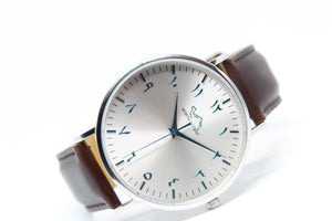 Glacier LE - Espresso Leather - NORTH ACCENT Inc., Watch watches men women luxury arabic watch classic minimalist,