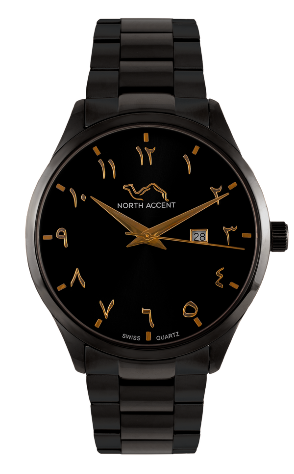 GRAND | Black Gold - NORTH ACCENT Inc., Watch watches men women luxury arabic watch classic minimalist,