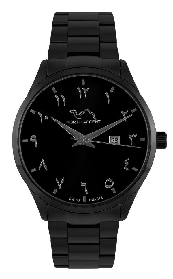 GRAND | Black Matte - NORTH ACCENT Inc., Watch watches men women luxury arabic watch classic minimalist,