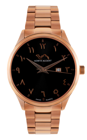 GRAND | Rose Black - NORTH ACCENT Inc., Watch watches men women luxury arabic watch classic minimalist,