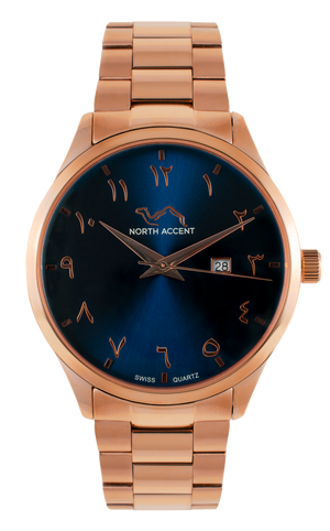 GRAND - Rose Gold Sapphire - NORTH ACCENT Inc., Watch watches men women luxury arabic watch classic minimalist,