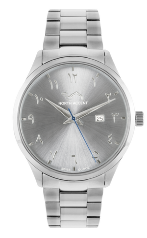 GRAND | Silver Mist - NORTH ACCENT Inc., Watch watches men women luxury arabic watch classic minimalist,