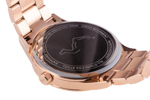 GRAND - Rose Gold Black - NORTH ACCENT Inc., Watch watches men women luxury arabic watch classic minimalist,