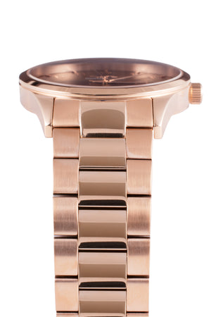 GRAND - Rose Gold Chocolate - NORTH ACCENT Inc., Watch watches men women luxury arabic watch classic minimalist,