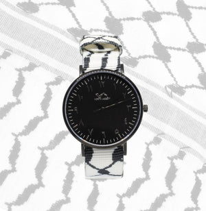 Kufiya Set in Black - NORTH ACCENT Inc., Watch watches men women luxury arabic watch classic minimalist,