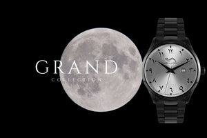GRAND | Full Moon - NORTH ACCENT Inc., Watch watches men women luxury arabic watch classic minimalist,