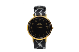 Black Kufiya - Black & Gold - NORTH ACCENT Inc., Watch watches men women luxury arabic watch classic minimalist,
