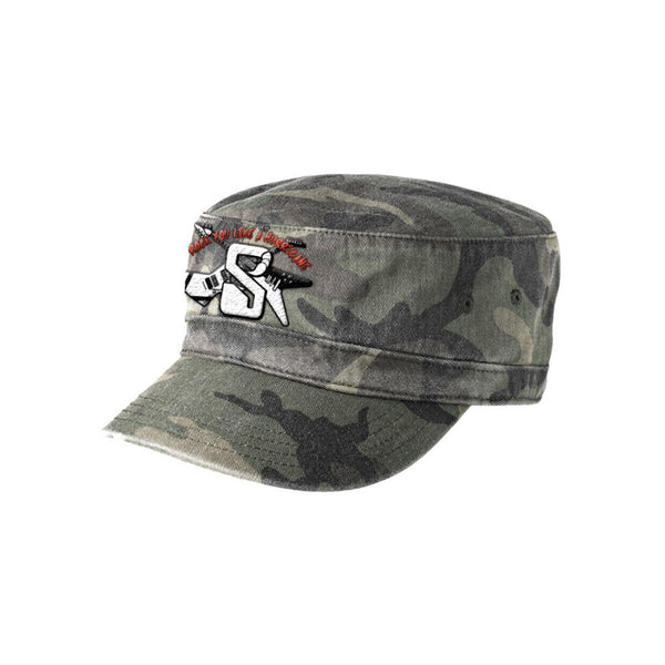 Rock You Like A Hurricane Camo Military Style Hat