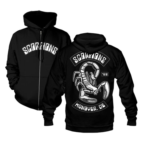 Scorpion and Rockers Zip Hoodie