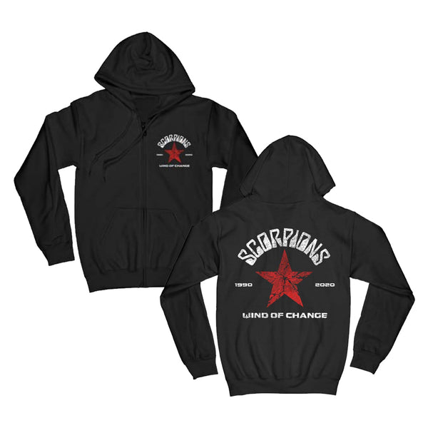 Wind Of Change Black Zip Hoodie