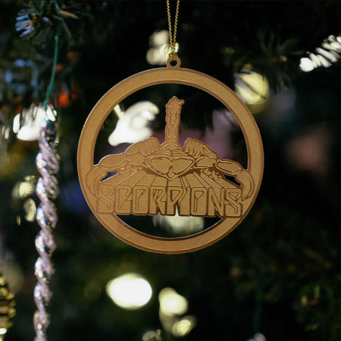 Classic Scorpion Stamped Metal Ornament