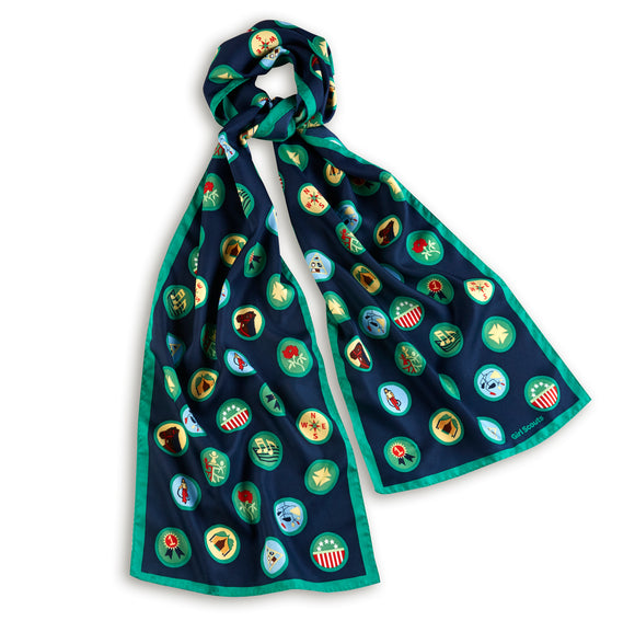 OFFICIAL VINTAGE BADGE SCARF - 04514