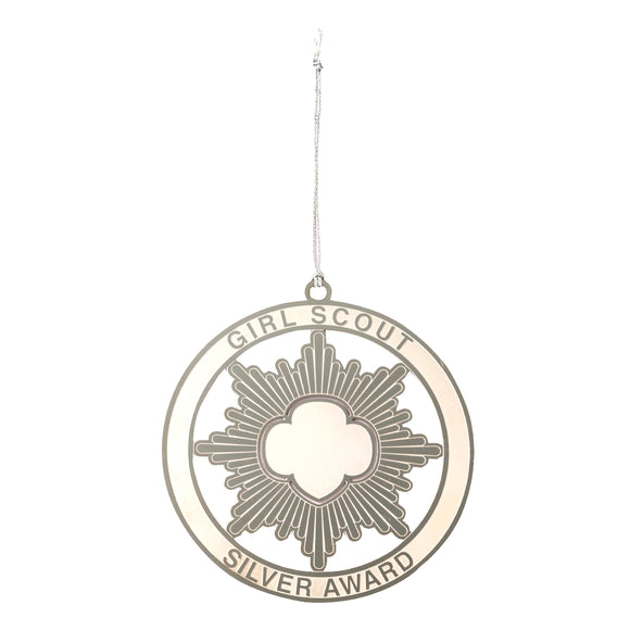 silver award ornament - 11548
