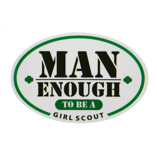 MAN ENOUGH STATIC CLING DECAL - 11919