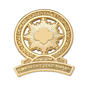 gs gold award brooch - 12327