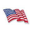 WAVY AMERICAN FLAG PATCH - 14302