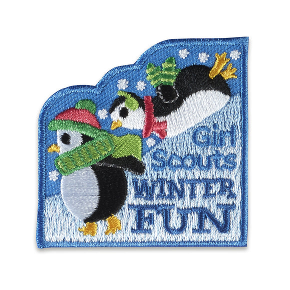 WINTER FUN PENQUINS PATCH - 18844