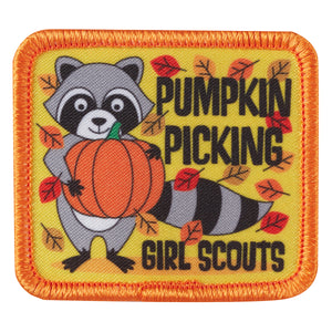 PUMPKIN PICKING RACCOON - 57094