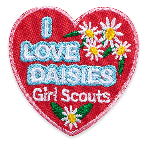 I LOVE DAISIES HEART PATCH - 58527