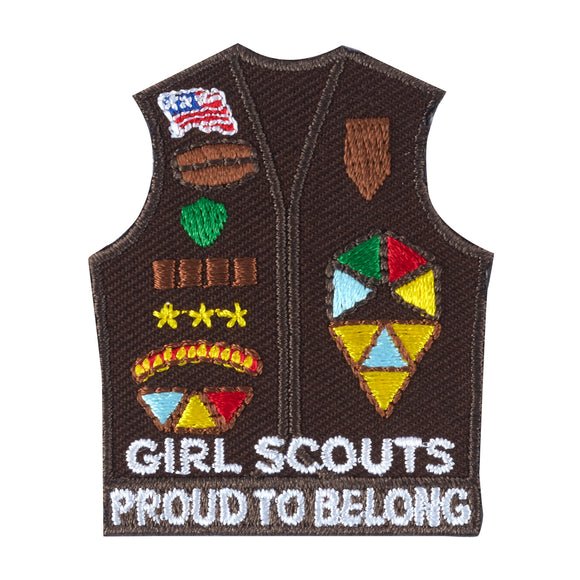 2020 BROWNIE VEST IRON PATCH - 58604