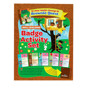 BROWNIE IT'S YOU WORLD CHANGE IT  BADGE SET - 60201