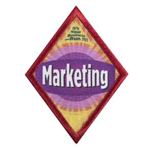 Cadette Cookie Business - Marketing Badge - 61405