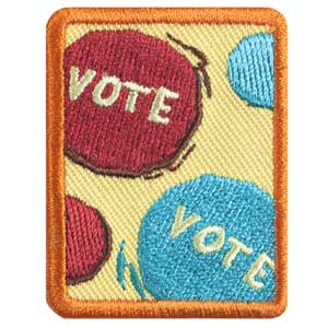 Senior Behind the Ballot Badge - 61507