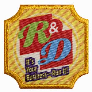 Ambassador Cookie Business - Research and Development Badge - 61602