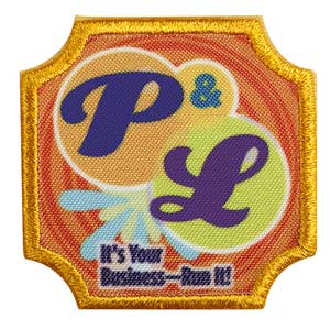 Ambassador Cookie Business - P & L badge - 61603