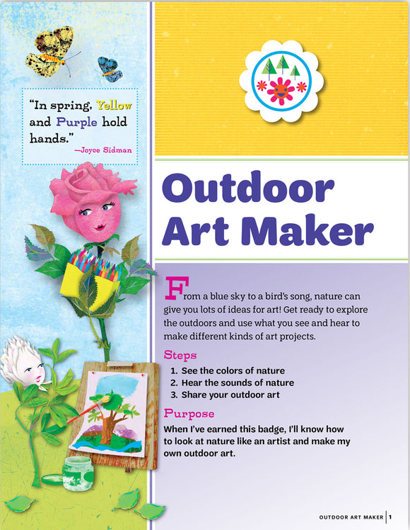 DAISY OUTDOOR ART PAMPHLET - 64033