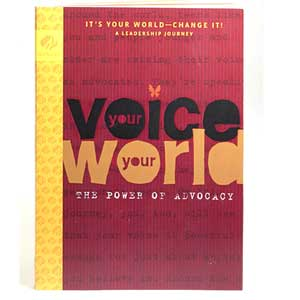 Ambassador Journey Book - Your Voice Your World: It's Your World - Change It! - 67600