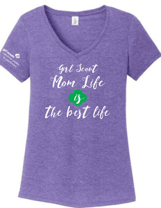 GIRL SCOUT MOM LIFE V-NECK - 7458