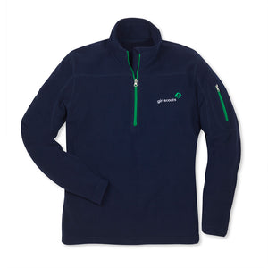 NAVY FLEECE 1/4 ZIPPER JACKET - 7554
