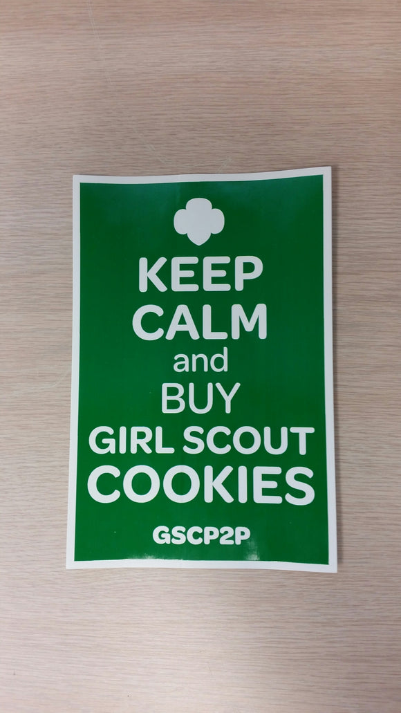 KEEP CALM & BUY GIRL SCOUT COOKIES DECAL - 78976