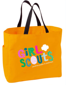 GIRL SCOUT TOTE BAG ORANGE - 79031