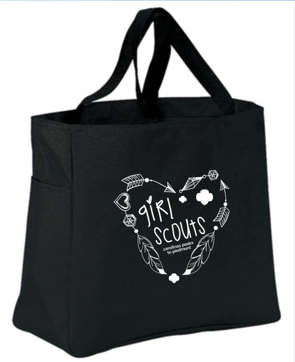 GIRL SCOUT TOTE BLACK - 79032