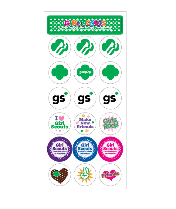 GIRL SCOUT STICKER SHEET - 79569