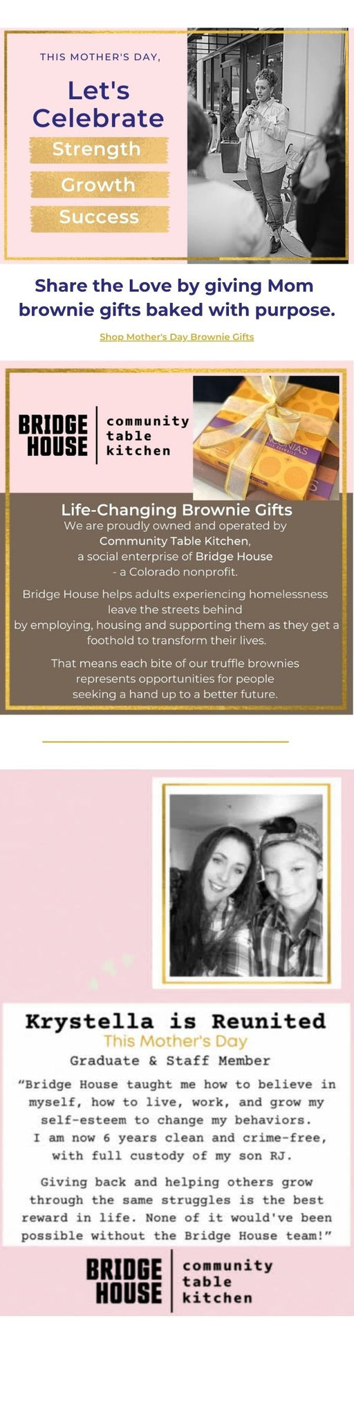 Mother's Day Gifts Bake with Purpose in Boulder Colorado