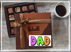 father's day truffle brownies