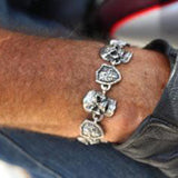 SK1396 Skull Shield Stainless Steel Gents Bracelet