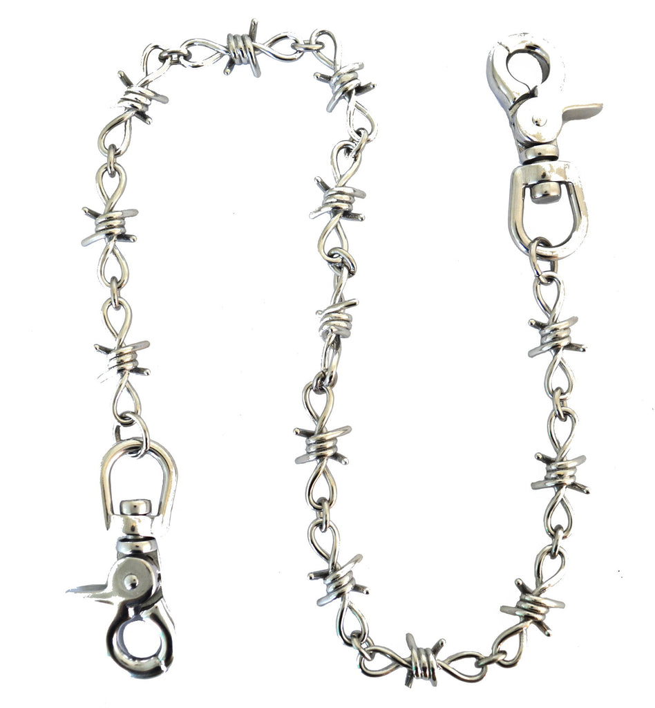 SK1803 Wallet Barbed Wire Chain Stainless Steel 24""