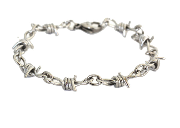 SK2033 Bracelet Uni-Sex Stainless Steel Barbed Wire Link Design