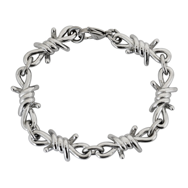 SK2034 Bracelet Men's Large Stainless Steel Barbed Wire Link Design